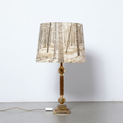 -Neo-Classical-table-lamp-70s-vintage-brass-suede-brown-gold-forest
