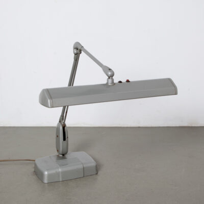 -model 2324-25-Dazor-desk-lamp-work-tool-pen-holder-st-louis-usa-grey-floating-fixture