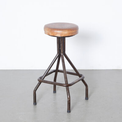 -industrial-stool-leather-seat-bar-foot-rest-supple-text-black-steel-frame-adjustable-height