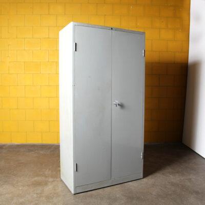 -Gispen-armadio-contenitore-in-acciaio-8154-50s-paesi bassi-industriale-vintage-grigio