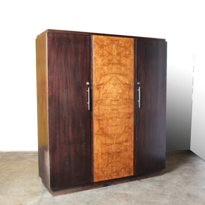 -Art-Deco-Wardrobe-walnut-shelves-keys-sloset-storage-cupboard-cabinet-30s-vintage