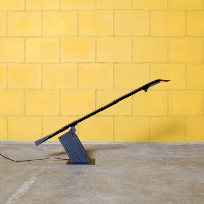 -コンドル-デスク-ランプ-ハンス-フォン-クリエ-ビルメン-80年代-イタリア-金属-プラスチック-黒