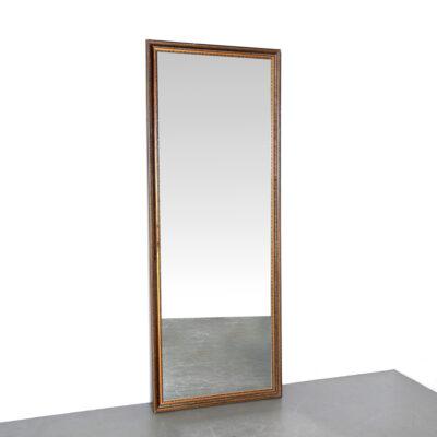 -Groß-Antik-Spiegel-hoch-breit-Rahmen-elegant-Vintage-braun