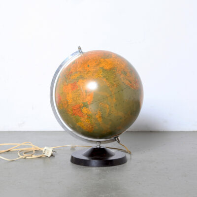 -Staatkundige-Globe-Rath-Vintage-lights-black-منقلة-prof-dr-arthur-krause-70s-germany