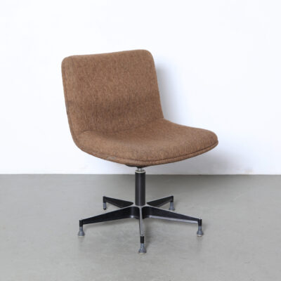 -Geoffrey-Harcourt-style-desk-chair-brown-wool-comfortable-vintage-70 년대