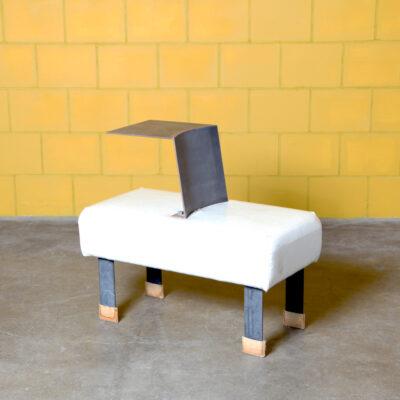 -좌석 내장 고원-흰색 의자 의자-네덜란드 nieuwe-금속 플라스틱 실내 장식-2000s