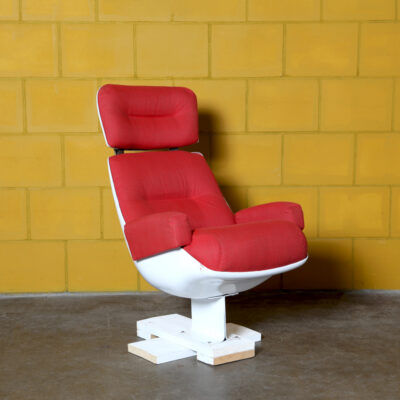 -Red-Space-Age-Lounge-Chair-armchair-polyester-fiberglass-vintage-mid-century-70s