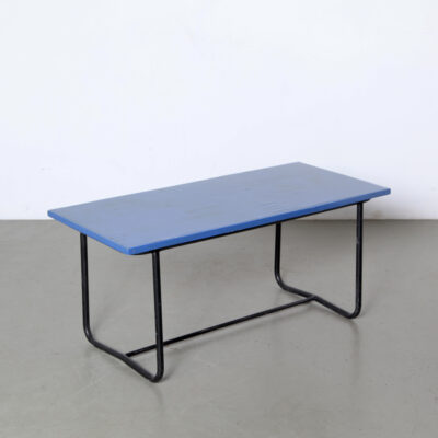 -blue-Tubular-Childrens-desk-black-red-chair-paul-schuitema-school-vintage-steel-wood