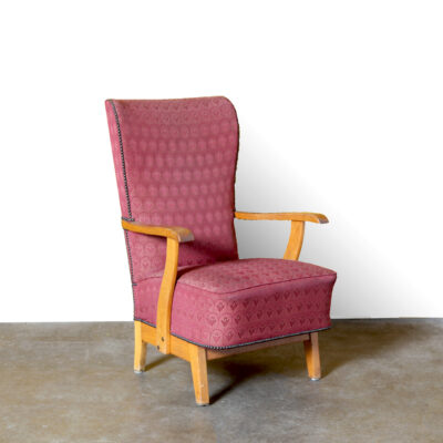 -vintage-armchair-red-pattern-chair-vintage-mid-century-50s-high-back