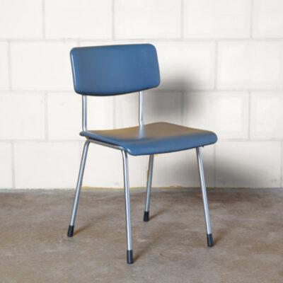 Gispen Bent Chroom-Tube chair 1231 blue skai vinyl frame original handgrip AR Cordemeyer André Cordemeijer Dutch Design vintage retro 60s 1960s XNUMXs sessenta assento moderno de meados do século