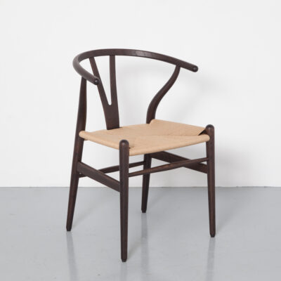CH24 chair wishbone Han J Wegner Carl Hansen Søn oiled walnut steam-bent natural paper cord soft curves organic shapes vintage retro Danish modern design 50s 1950s fifties mid-century signed numbered official limited reissue