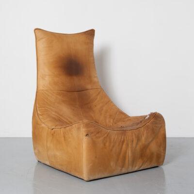 The Rock Джерард ван ден Берг Montis карамельная кожа в стиле пэчворк Кресло Florence кресло easy lounge Brutalist голландский дизайн дизайн семидесятых классический космический век комковатая патина винтаж ретро 70-е 1970-е